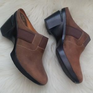 Cole Haan Nike Air brown leather mules Sz 10